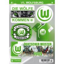 Aufkleber Set VfL Wolfsburg