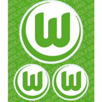 Stickerpostkarte VfL Wolfsburg